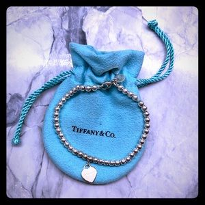 Beaded bracelet w/cooper Return toTiffany's heart